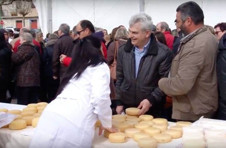 Un intre da XXV feira do Queixo e do Pan de Ousá en Friol