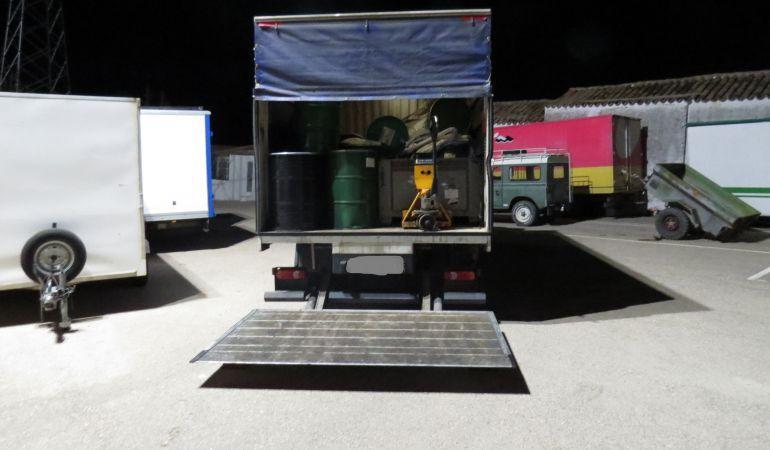 Vehículos localizados en Torredelcampo con residuos tóxicos