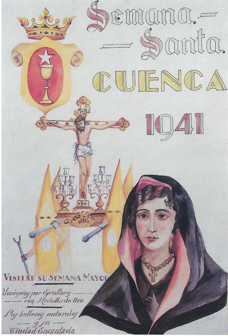 Primer cartel anunciador de la Semana Santa.