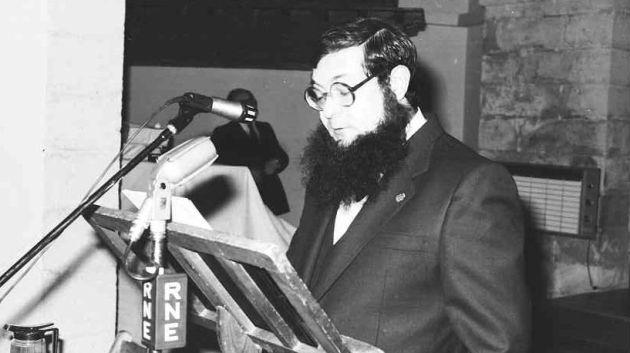 José Luis Lucas Aledón en su pregón de 1980.