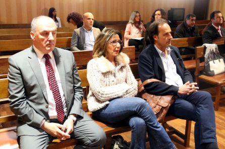 El rector Bonet i la directora del Parc, Anna Albar, durant l'última junta de creditors