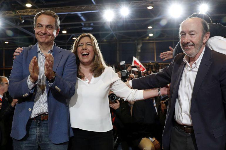 Zapatero muestra en Sevilla su total respaldo a Susana Díaz
