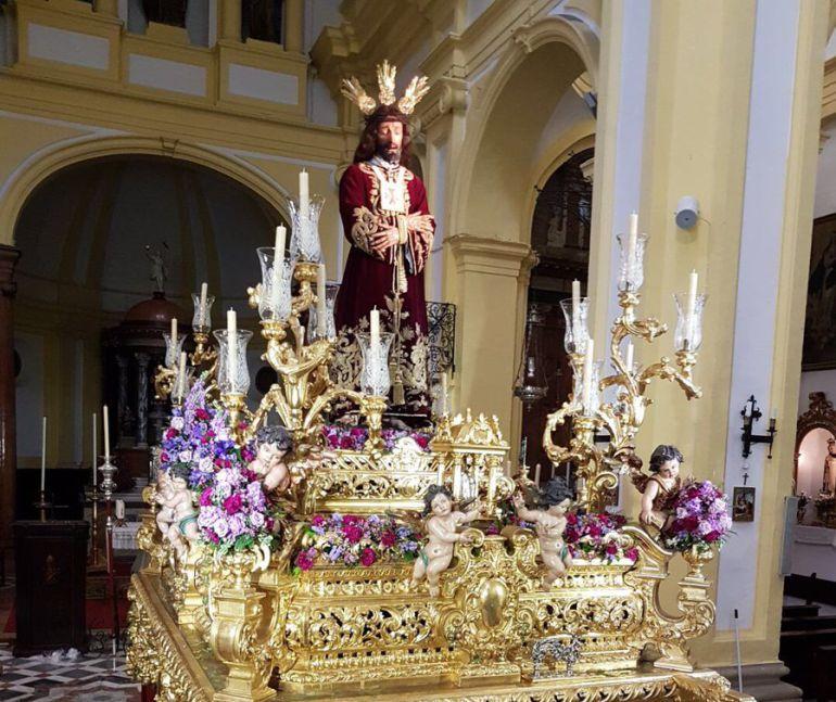 La imagen del Cautivo de San Ildefonso en el paso de San Juan Bosco