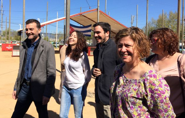 Antonio Maíllo a su llegada a la Fiesta del PCA
