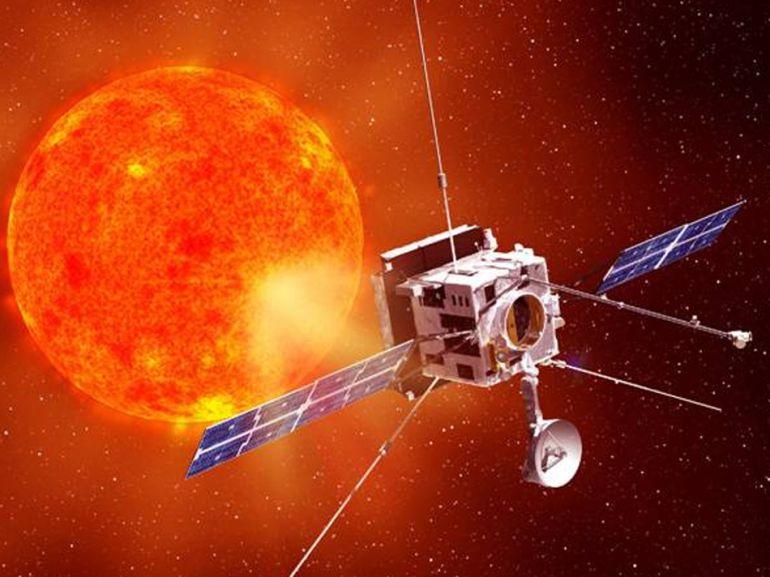 Recreación artística de la misión Solar Orbiter
