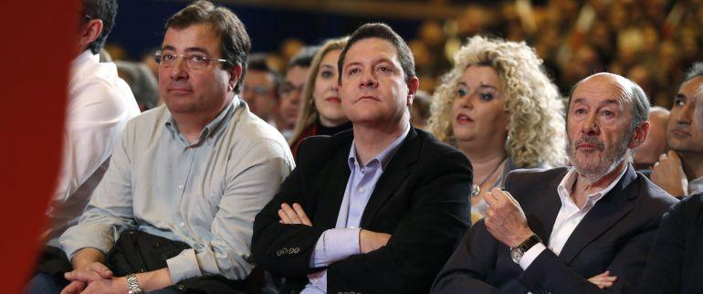 García-Page en el acto de presentación de la candidatura de Susana Díaz a la secretaría general del PSOE