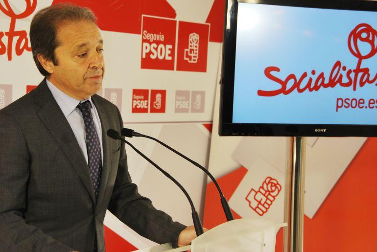 """El diputado socialista Juan Luis Gordo califica de """"testimoniales"""" los presupuestos del Estado para la provincia de Segovia"""