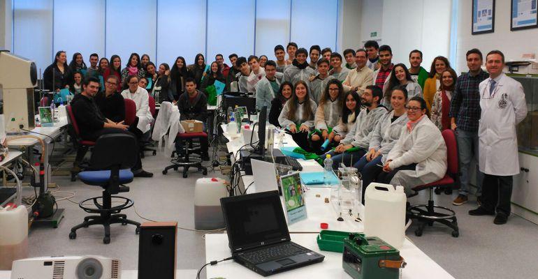 Un grupo de investigadores de la Universidad de Jaén.