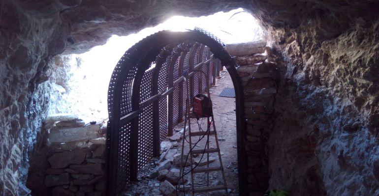 Acceso nuevo en la mina de Torralba.