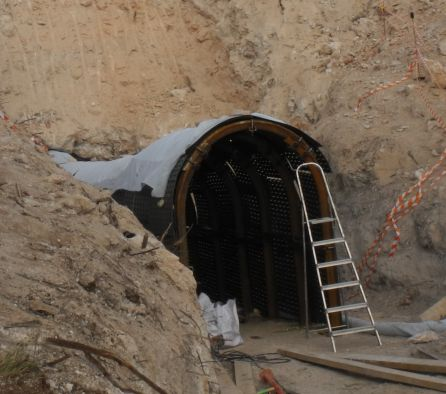 Exterior del túnel.