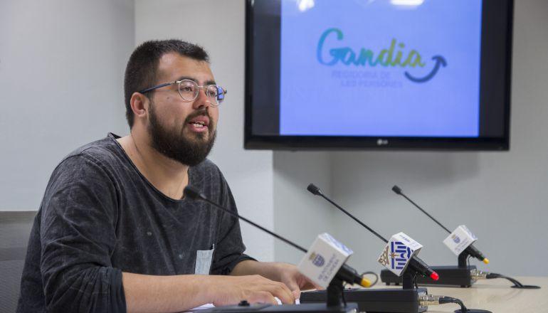 Nahuel González, concejal Responsabilidad Social de Gandia.