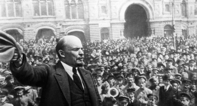 Imagen histórica de la Revolución Rusa