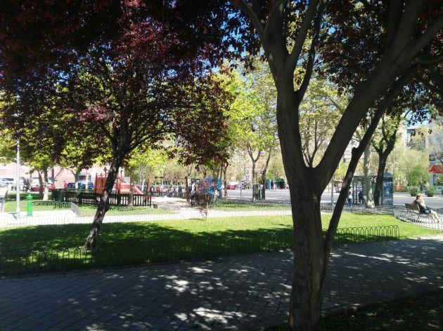 La zona ajardinada de Ciudad Lineal, futuro Jardines de los Combatientes de la Nueve