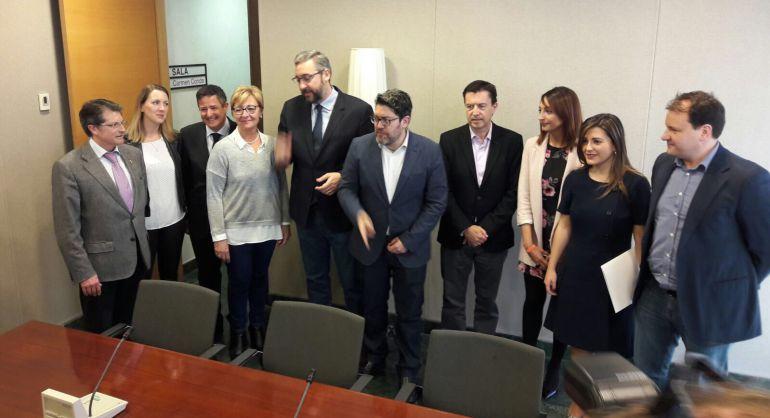 Equipos negociadores de PP y Ciudadanos