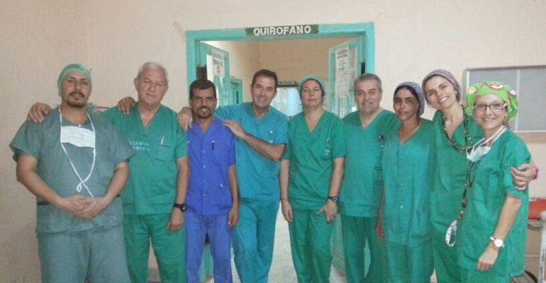 Sanitarios jieneses de la ONG Asociación de Amigos del Sahara Libre.