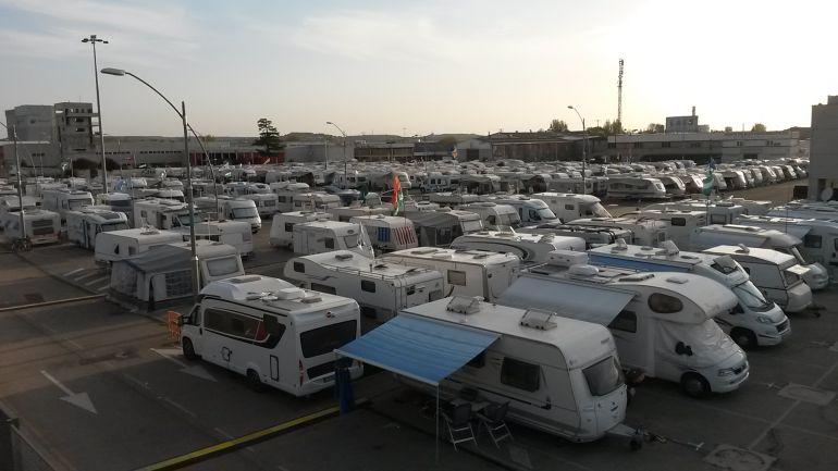 El recinto ferial de Aranda es la zona establecida para las caravanas