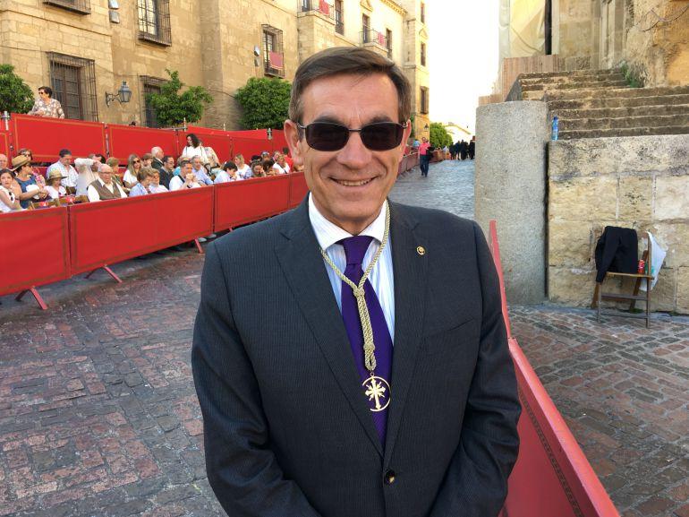 Francisco Gómez Sanmiguel, presidente de la Agrupación de Hermandades y Cofradías de Córdoba
