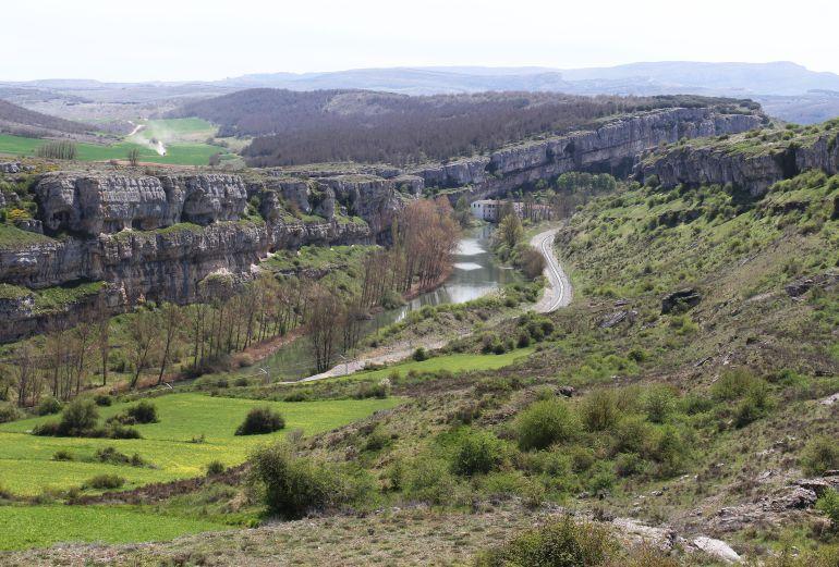 El cañón de la Horadada en la zona de Valoria de Aguilar