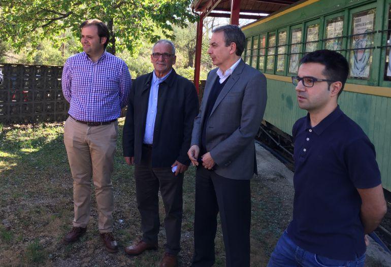Zapatero,  junto a Tino Rodríguez, Laureano González y Álex Campillo