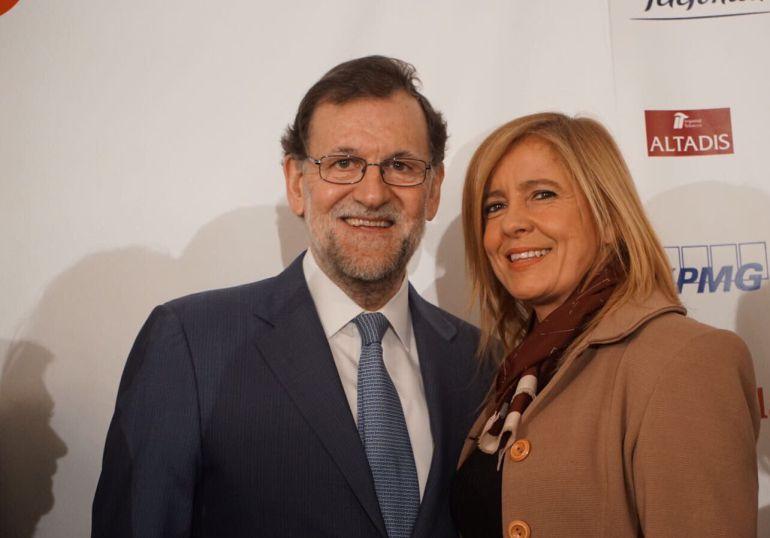 Rosario Alarcón en una foto reciente con Mariano Rajoy