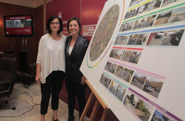 Amparo Pernichi e Isabel Ambrosio en la presentación de Mi Barrio es Córdoba