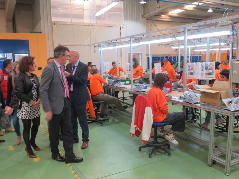 El presidente de la Diputación ha visitado este martes las instalaciones de Soltra