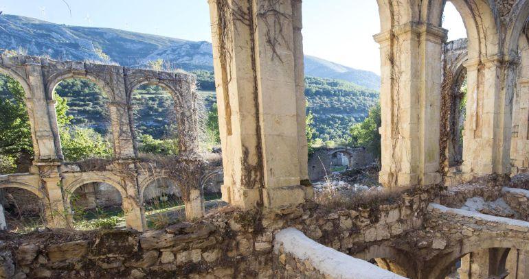 Monasterio de Rioseco, en el Valle de Manzanedo, Burgos, uno de los espacios monacales mas importantes del Medievo, hoy en ruinas