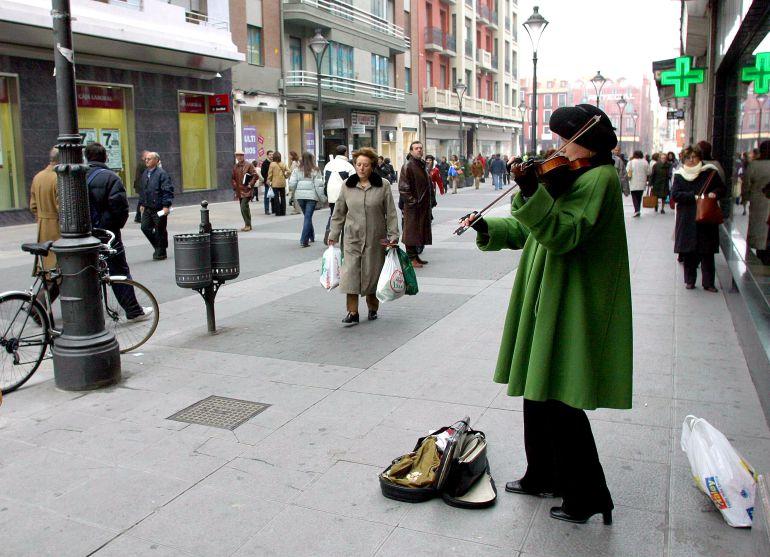 Calle Santiago, en Valladolid