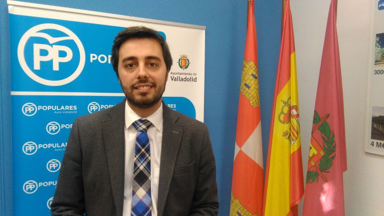 Borja García Carvajal en las dependencias del Grupo Municipal del PP