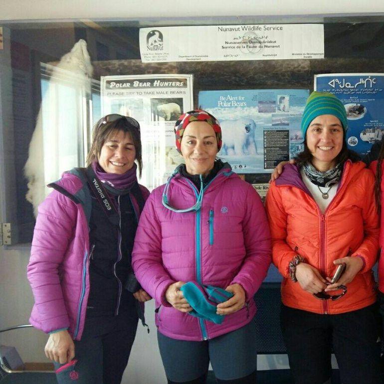 Chus Lago, Verónica Romero y Rocío García son las integrantes de la expedición Compromiso por la Tierra