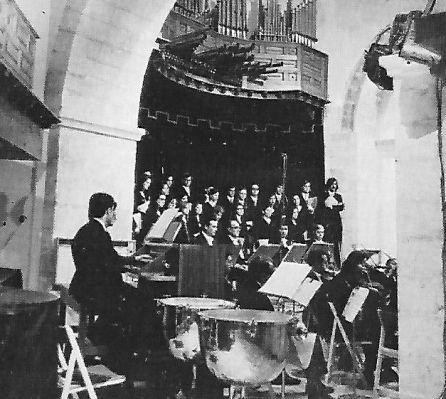 Concierto en la iglesia de San Miguel en 1972.