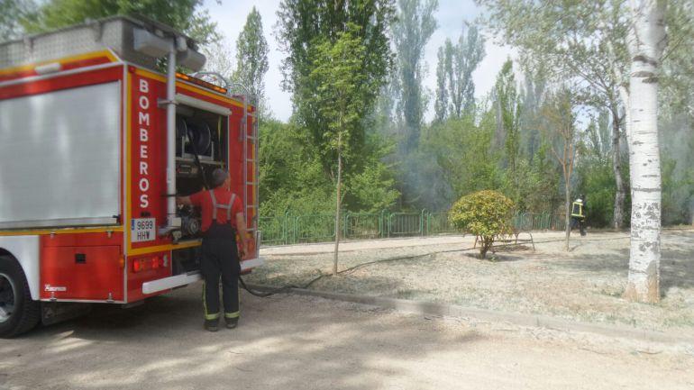 Los bomberos sofocaron el fuego y evitaron daños significativos en el parque