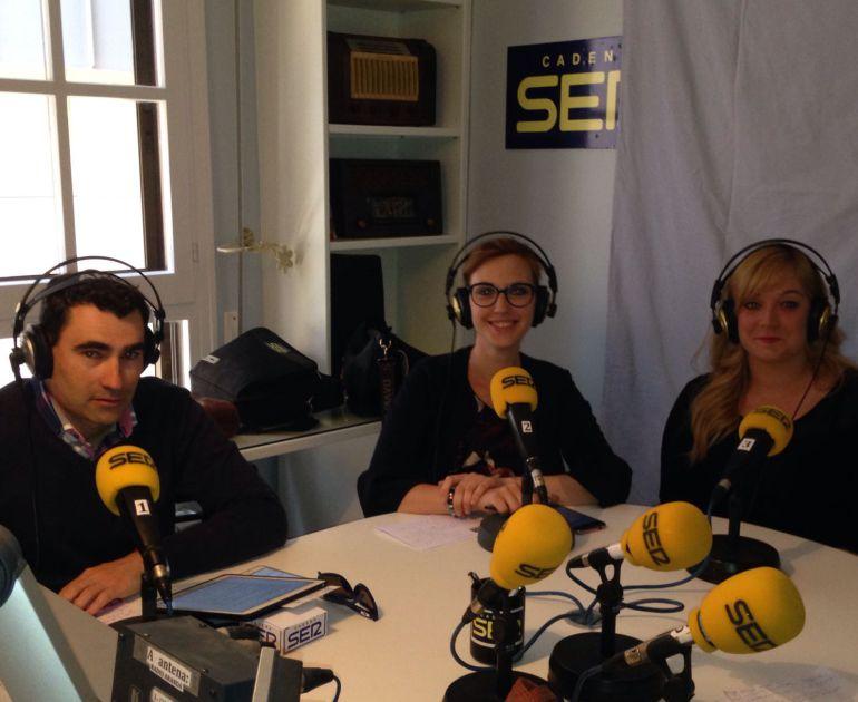 Jorge Bermejo, Cristina Martín y Ángela Rivas