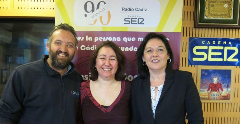 Ángel Gago, Marieta Cantos y María Jesús Orihuela en el Doctorado Honoris Cádiz