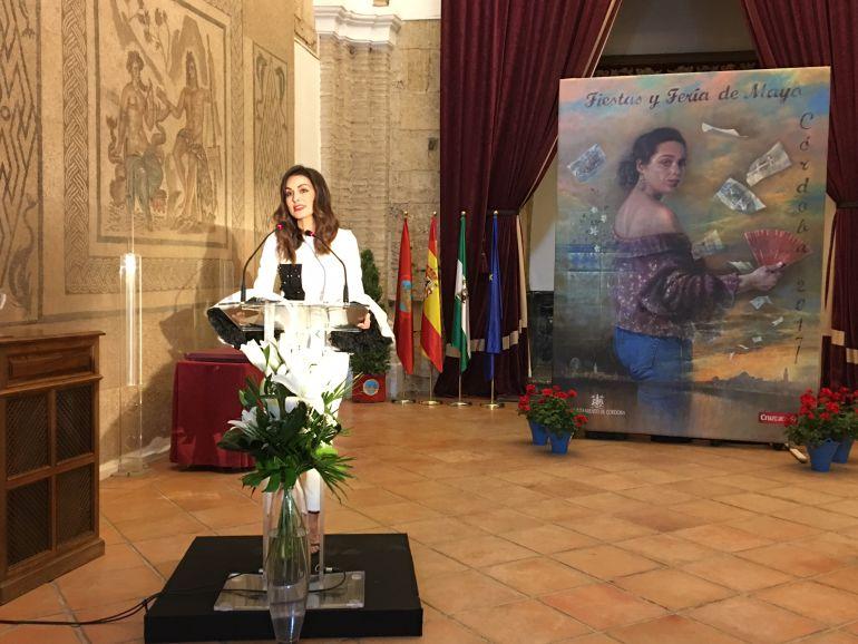 Susana Córdoba, en un momento de la lectura de su pregón