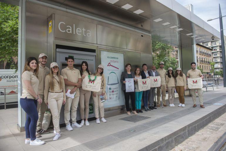Campaña de promoción del comercio por el metro de Granada
