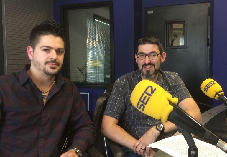 Ignacio Traseira y Ricardo Chao en los estudios de Radio León