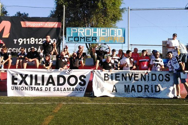 Unionistas de Salamanca en su visita al Unión Adarve.