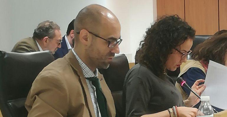 Raúl Terrón, portavoz del PP en el pleno municipal de Sanse