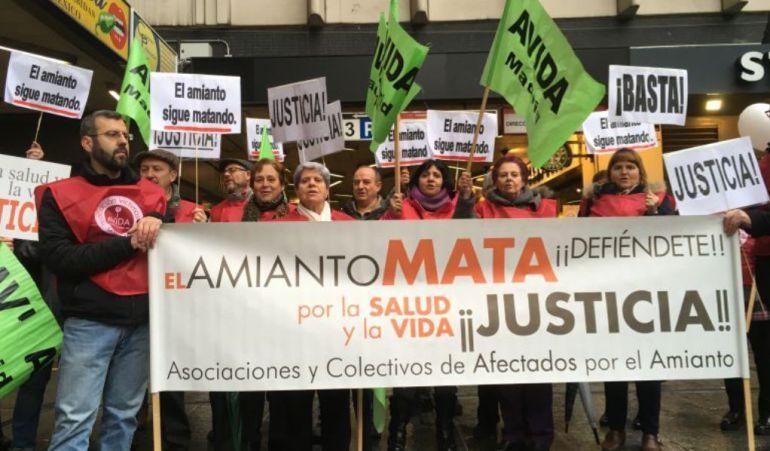Los afectados por el amianto siguen su lucha judicial con varias vistas en los últimos días