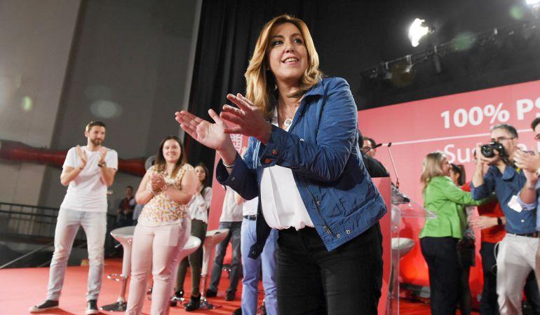 Susana Díaz sigue recabando apoyos en la Comunidad de Madrid