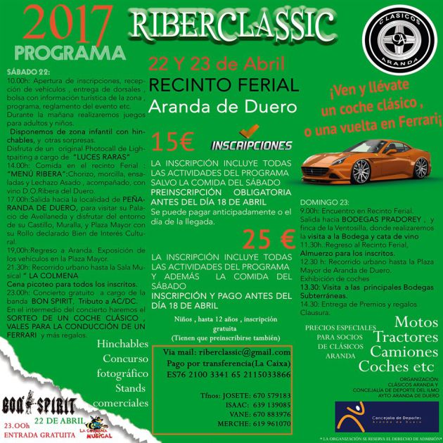 Programa de Riberclassic 2017
