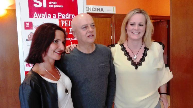 Mari Luz Martínez, Odón Elorza y Zaida Cantera