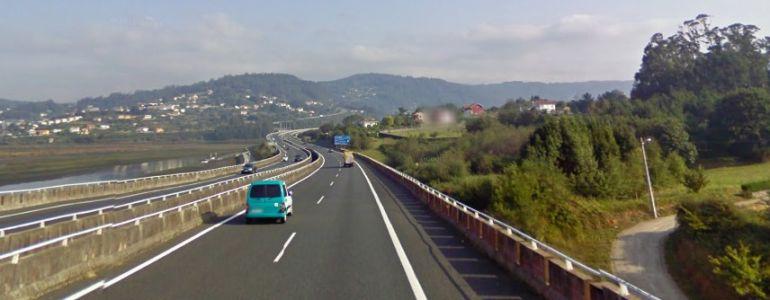 Tramo de la autopista en Pontedeume