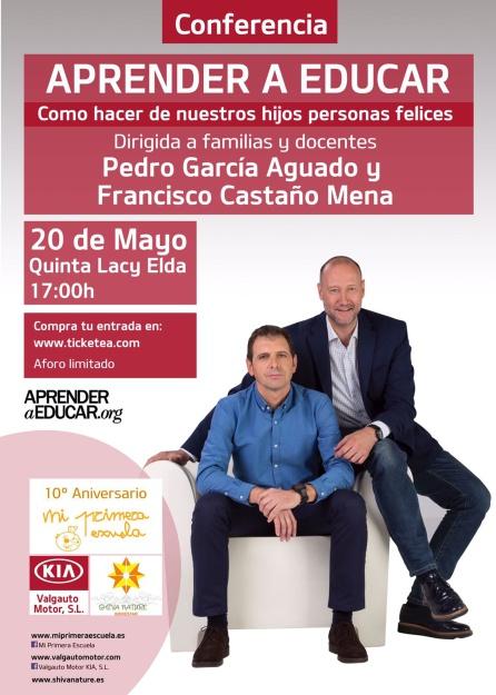 Pedro Aguado y Francisco Castaño Mena explicarán el próximo sábado 20 de mayo en el restaurante 'Quinta Lacy' de Elda, cómo guiar a los hijos durante su crecimiento