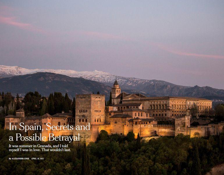 Portada del artículo de The New York Times dedicado a Granada
