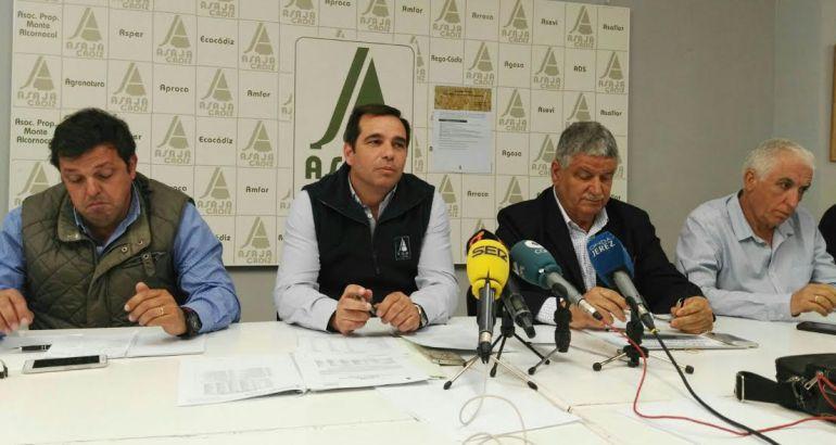 Imagen de la rueda de prensa de Asaja-Cádiz