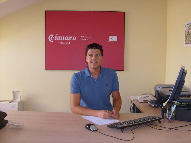 David Sánchez, responsable de la Antena Local de la Cámara de Comercio de Valladolid en Peñafiel