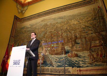 El presidente Mariano Rajoy clausurando el acto