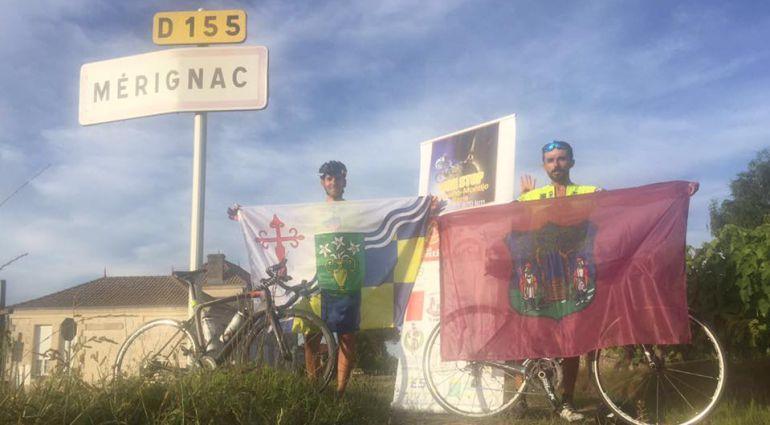 Luis Ignacio Barril y David Pascual, ciclistas amateur de Barbaño y Montijo